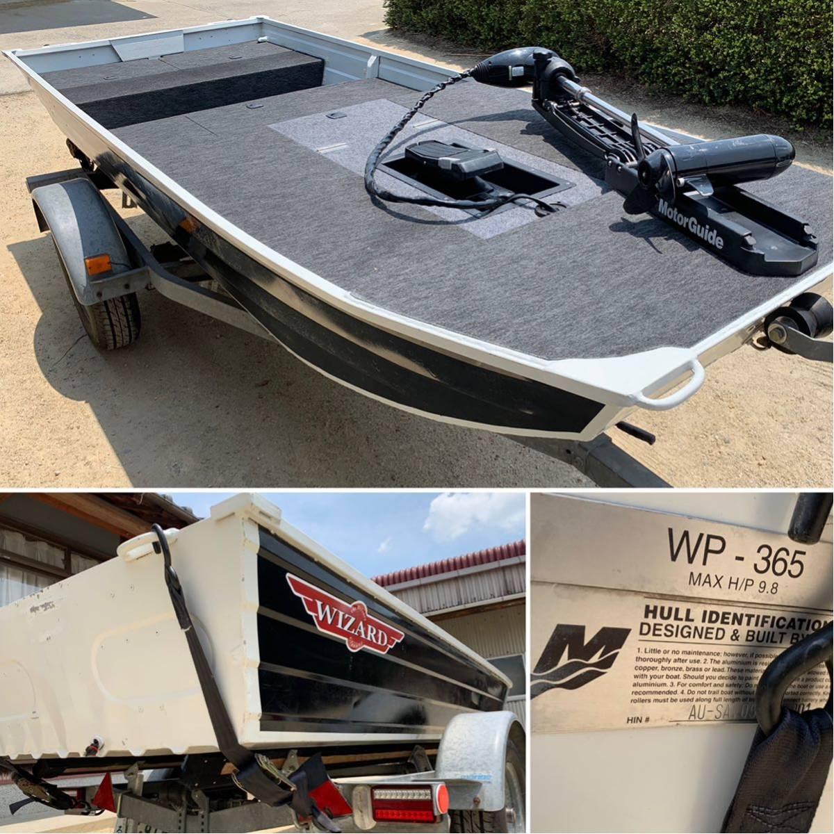 検査済み ウィザードWP365 クラス最大9.8馬力搭載可能、加工多数(フルデッキ&ハイデッキ、エレキリセス、開口部、ビルジポンプ)