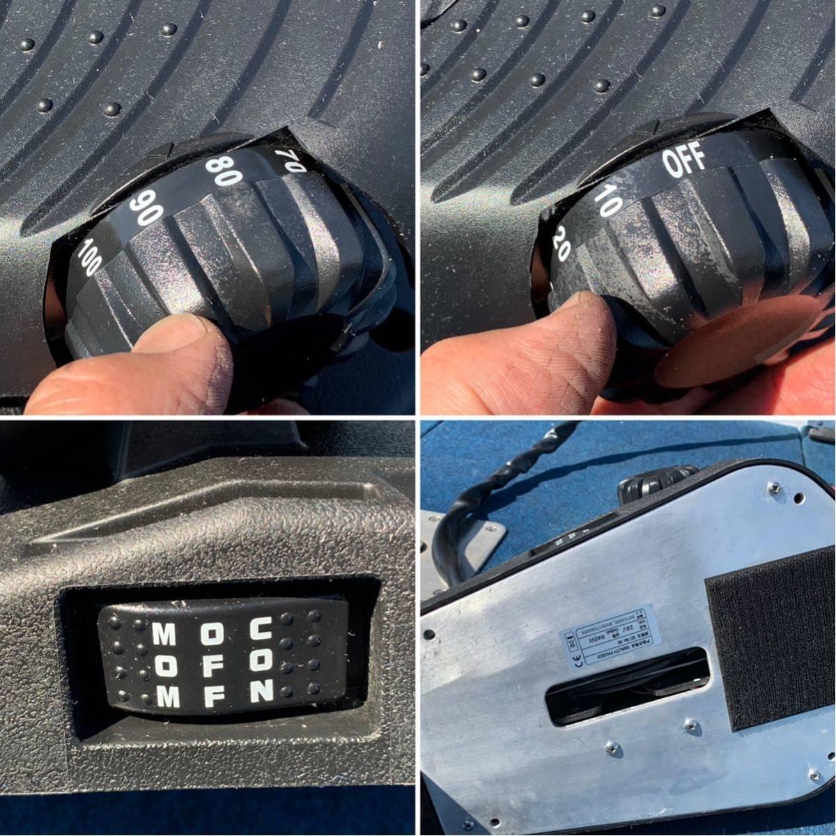 ハイガー24ボルト 80ポンド 無段階 【送料 5,000円~(北海道 沖縄 離島は着払い)】昨年購入、外観程度 良し、バッテリー残量表示、動画あり_画像9