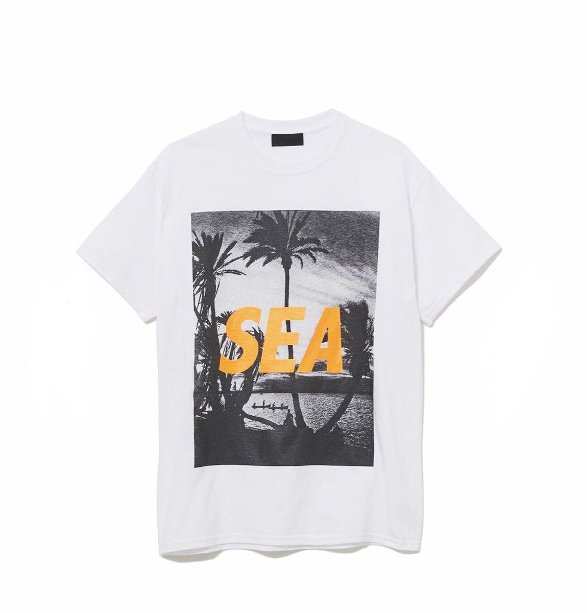 Mサイズ WIND AND SEA T-SHIRT PALM TREE PHOTO WHITE 新品未使用 ウィンダンシー Tシャツ キムタク