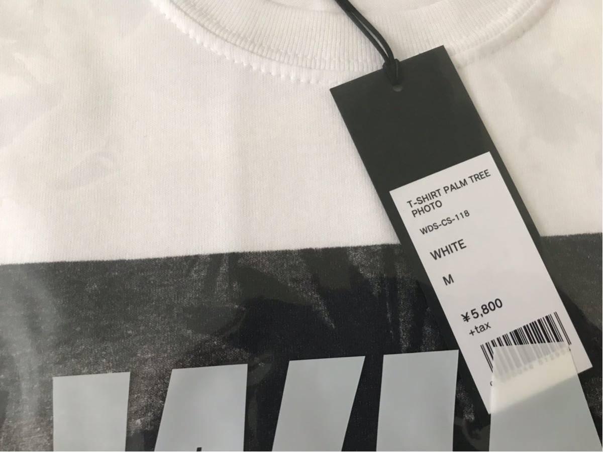 Mサイズ WIND AND SEA T-SHIRT PALM TREE PHOTO WHITE 新品未使用 ウィンダンシー Tシャツ キムタク_画像3
