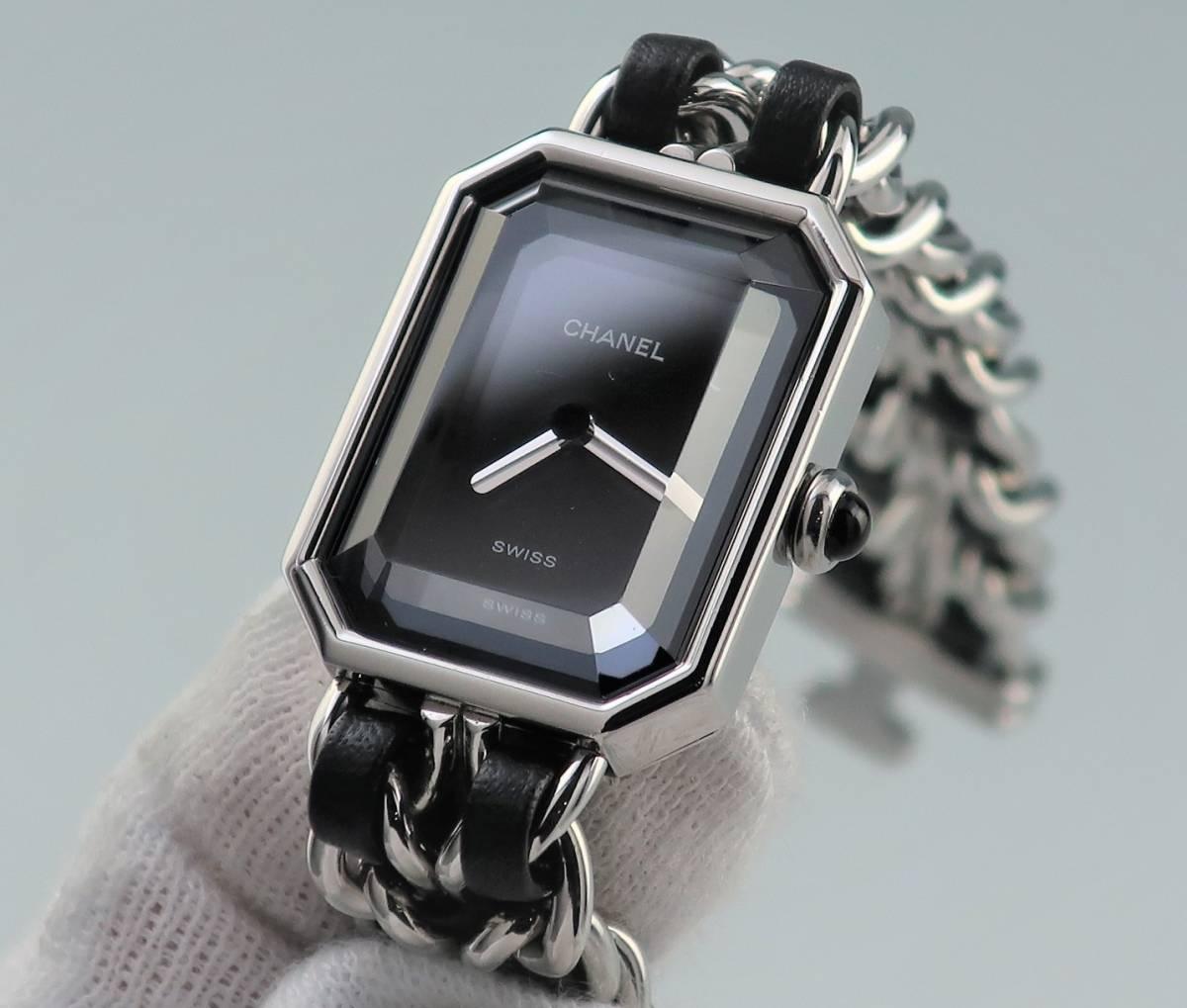本物 1円 シャネル プルミエール Lサイズ H0451 シルバー レディース ウォッチ 中古 婦人 女性 腕時計_画像4