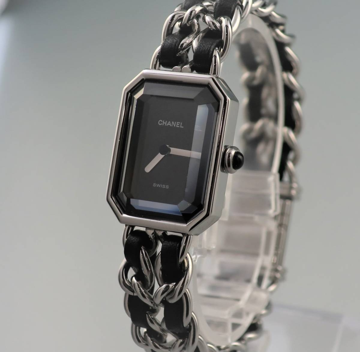 本物 1円 シャネル プルミエール Lサイズ H0451 シルバー レディース ウォッチ 中古 婦人 女性 腕時計