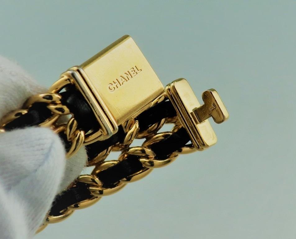 本物 1円 シャネル プルミエール Lサイズ H0001 レディース ウォッチ ゴールド 婦人 女性 中古 腕時計_画像3