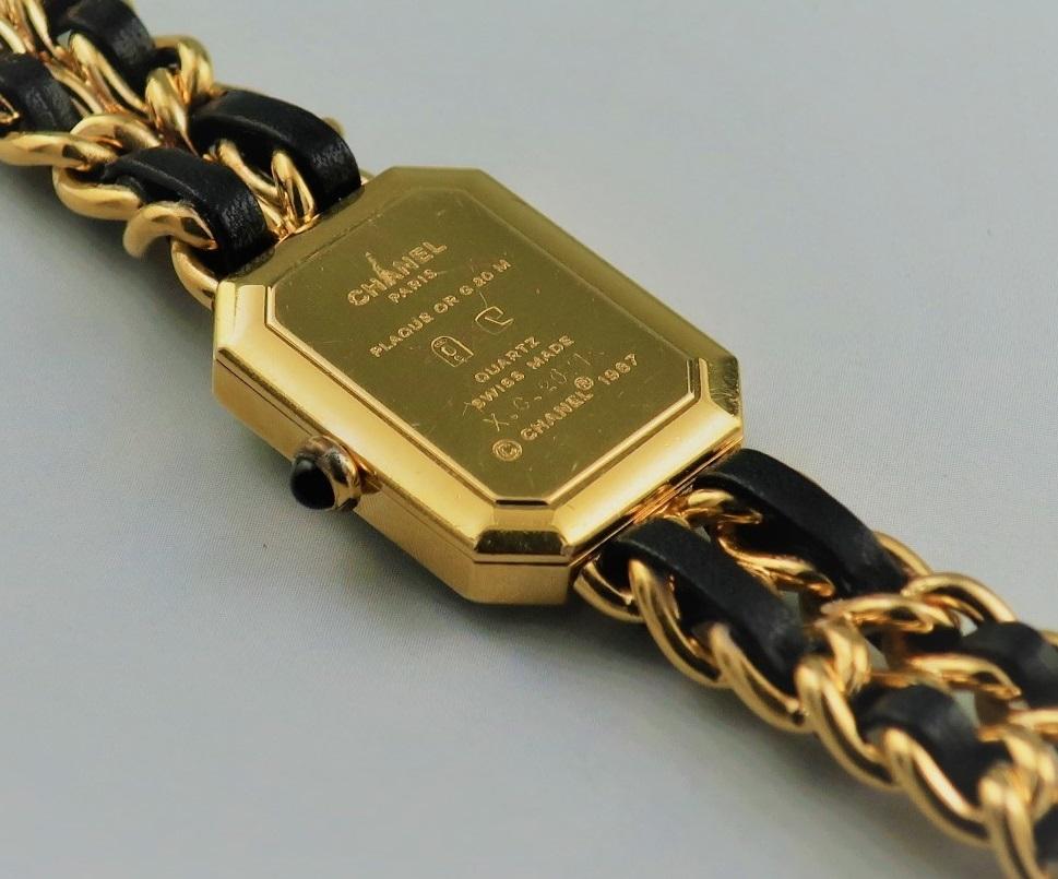 本物 1円 シャネル プルミエール Lサイズ H0001 レディース ウォッチ ゴールド 婦人 女性 中古 腕時計_画像2