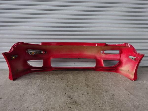 藤田エンジニアリング FD3S RX-7 前期 アフラックス フロントカウル Ver.1 フロントバンパー エアロFRP 赤 + カーボンカナード付 13B_画像8