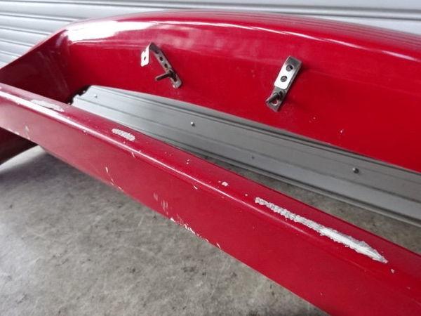 藤田エンジニアリング FD3S RX-7 前期 アフラックス フロントカウル Ver.1 フロントバンパー エアロFRP 赤 + カーボンカナード付 13B_ガリ傷 剥がれ