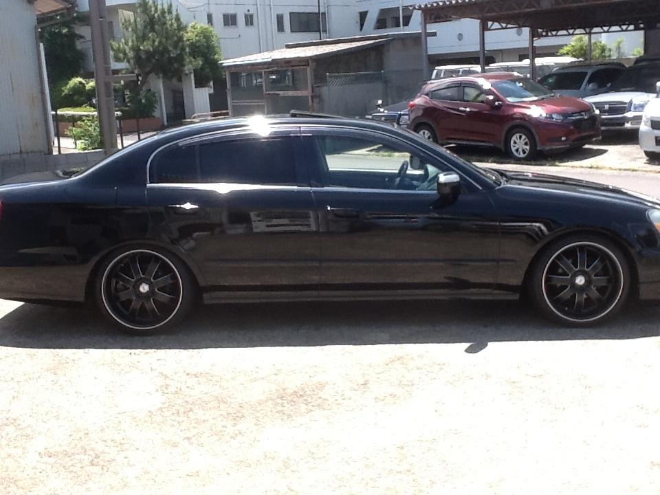逆輸入 インフィニティ Q45 人気の黒 黒革 サンルーフ 新品アルミタイヤセット ベース車_画像4
