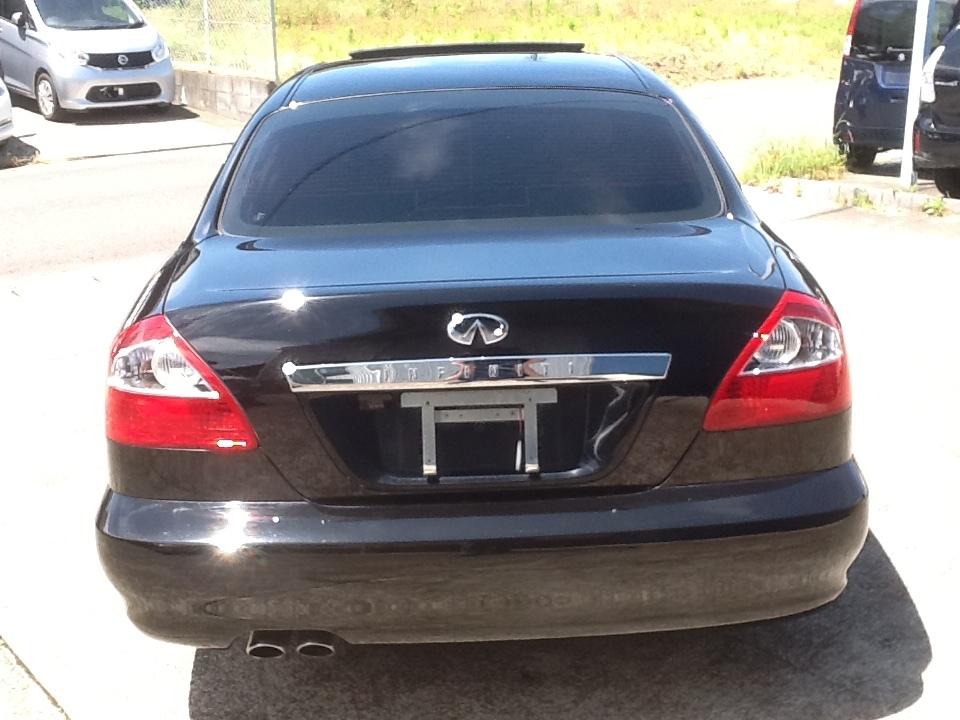 逆輸入 インフィニティ Q45 人気の黒 黒革 サンルーフ 新品アルミタイヤセット ベース車_画像6