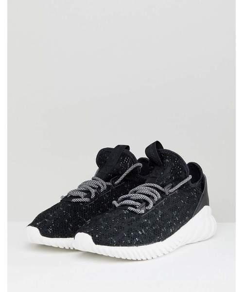 美品 18SS adidas Originals アディダスオリジナルス Tubular Doom Sock PK チューブラ プライムニット スニーカー 24.5cm BLK 定価15120円
