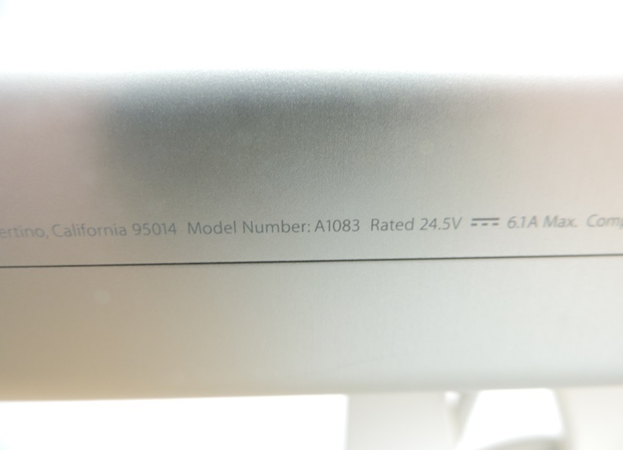 t8122◆Apple Cinema HD Display【A1083】30インチフラットパネルモデル◆ジャンク品_画像8