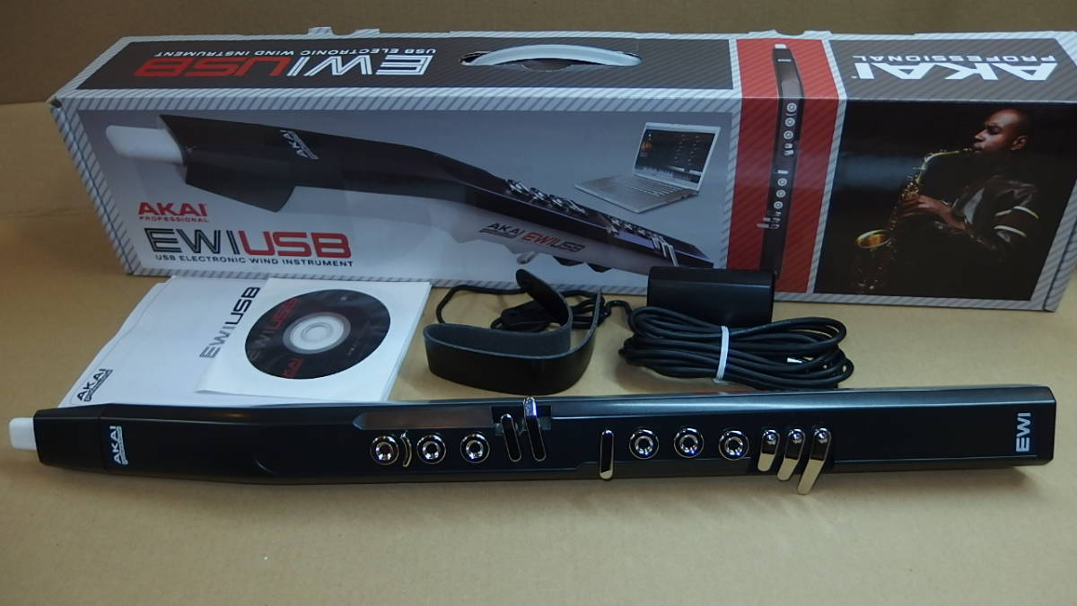096 AKAI EWI USB ウインドコントローラ 中古美品