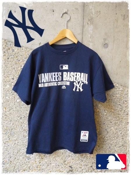 メンズ MLB 半袖 Tシャツ MLB NY Yankees ニューヨーク ヤンキース YankeesBASEBALL Majestic アメリカ 野球 メジャー L_画像1