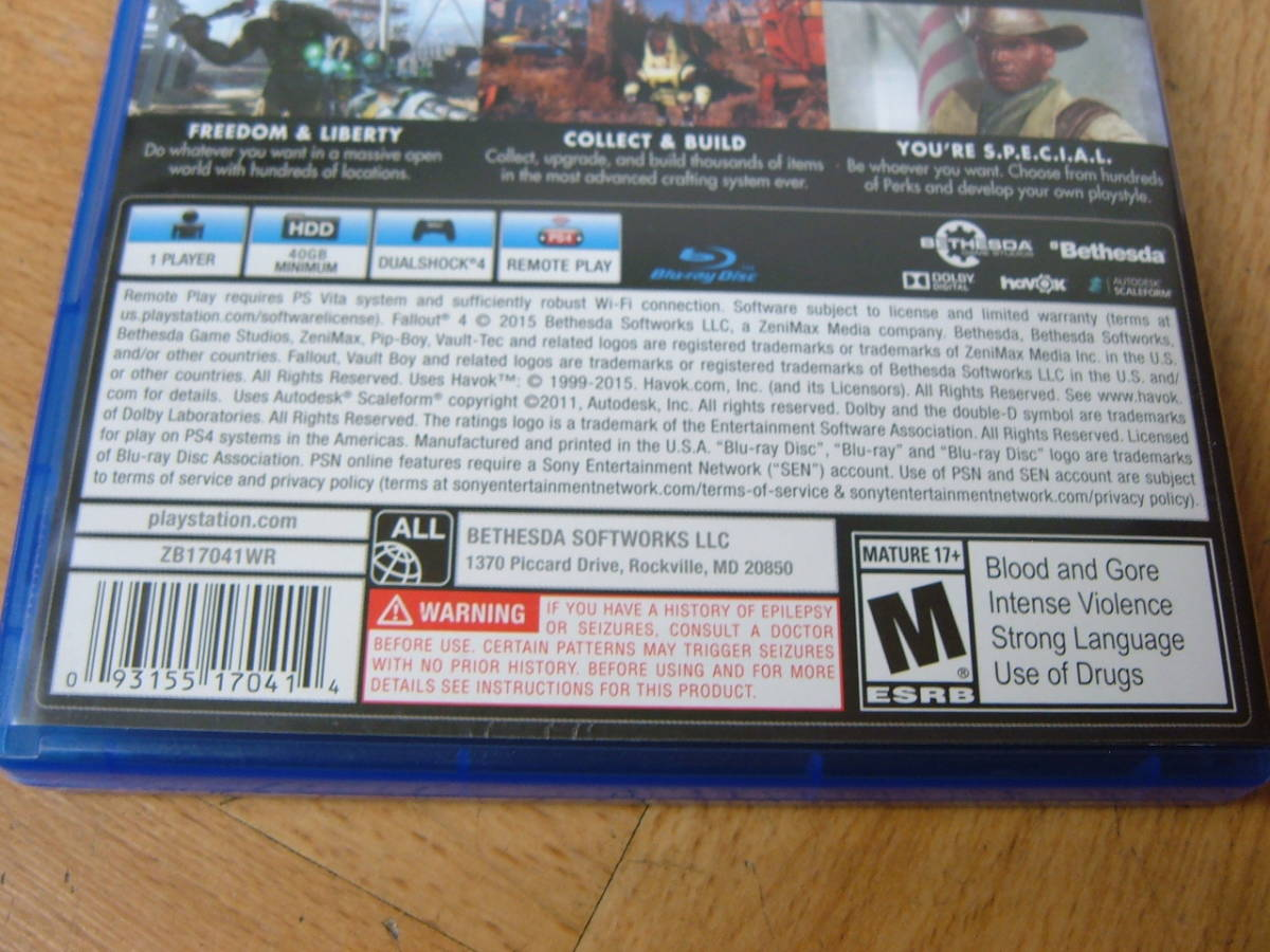 27 【美品】PS4 ファールアウト4 Fallout4 北米版_画像4