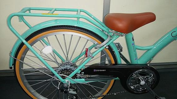 ☆アウトレット ジュニア自転車☆22インチ エメラルドグリーン系 シマノ製外装6段変速 LEDオートライト_画像4