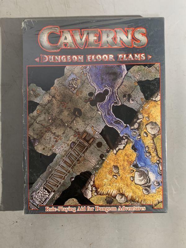 12#B2A/B052 未開封品 TRPG Games Workshop社1986年 CAVERNSフロア・プラン レア 検TRPG/メタルフィギュア/MF/AD&D 80サイズ