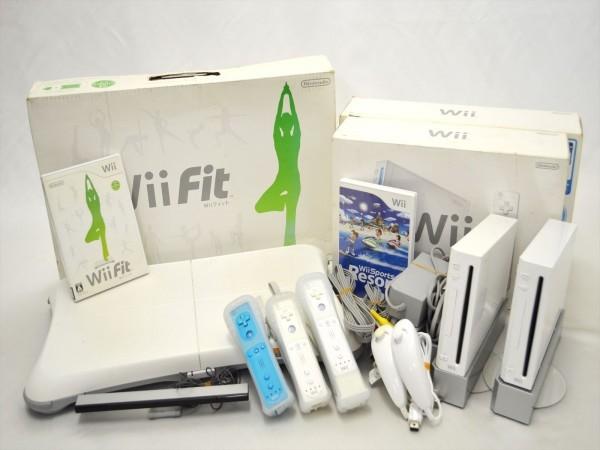KM58●現状品まとめて!!●Nintendo Wii 本体 RVL-001セット 2点&Wii Fit +ソフト付き 欠品有