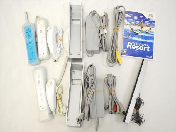 KM58●現状品まとめて!!●Nintendo Wii 本体 RVL-001セット 2点&Wii Fit +ソフト付き 欠品有_画像6