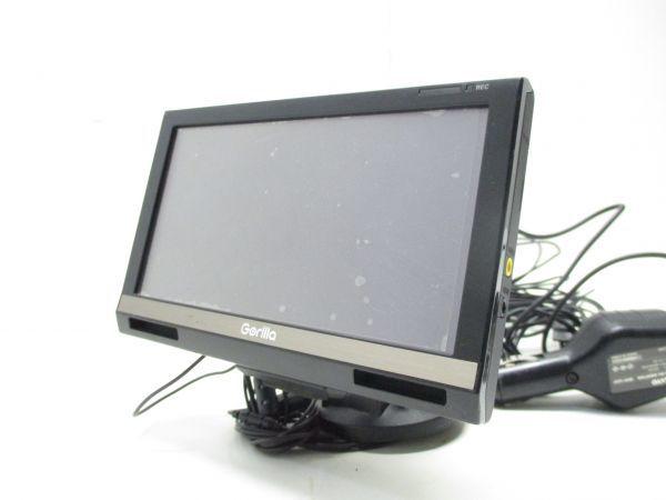 □SANYO サンヨー 地デジ フルセグ内蔵 ゴリラ NV-SD650FT ポータブルナビ6.2V型/16GB/録画予約/FMトランスミッター 0176 A-0□