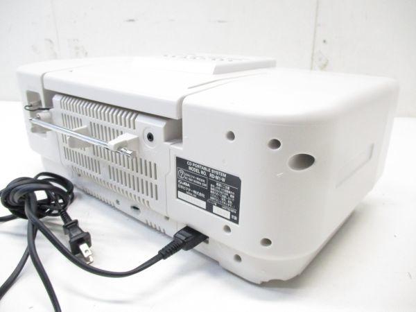 □JVCケンウッド ビクター メモリーポータブルシステム ホワイト RD-M1-W 2007年製 高音質 5352 A-1□_画像3