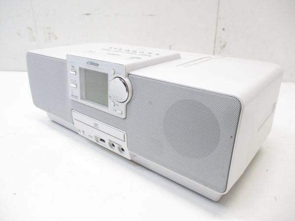 □JVCケンウッド ビクター メモリーポータブルシステム ホワイト RD-M1-W 2007年製 高音質 5352 A-1□