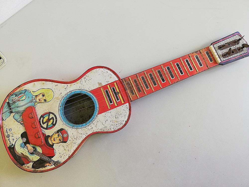 【希少!】 ★ ブリキ エレキギター ★ アンティーク コレクション 玩具 昭和レトロ