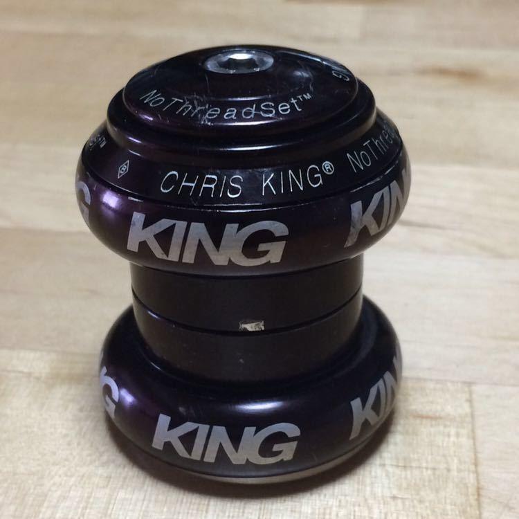 CHRIS KING クリスキング NoThreadSet 1 1/8 OS ブラック 色あせています