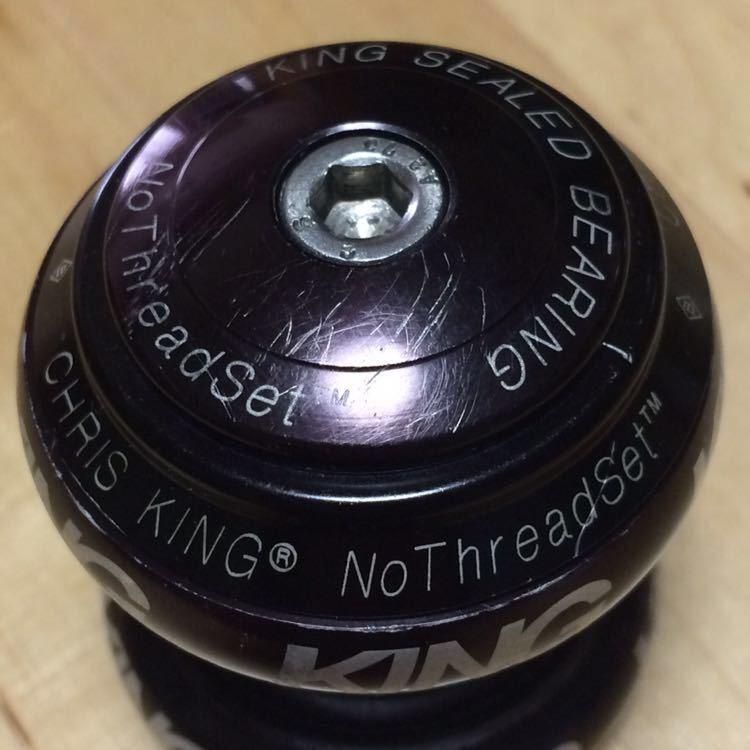 CHRIS KING クリスキング NoThreadSet 1 1/8 OS ブラック 色あせています_画像2