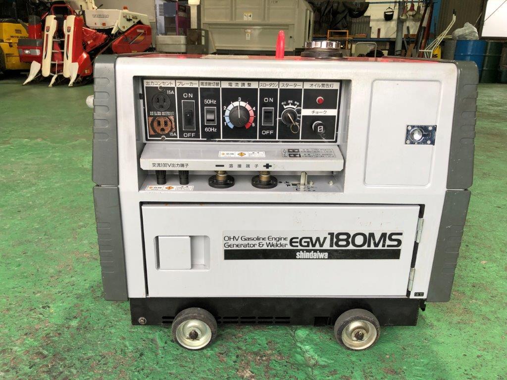 【売切】新ダイワ EGW180MS 防音型エンジン発電機・溶接機 機関良好♪