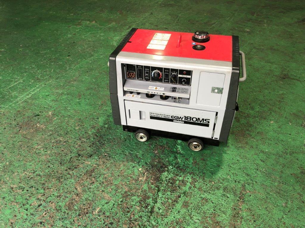 【売切】新ダイワ EGW180MS 防音型エンジン発電機・溶接機 機関良好♪ _画像3