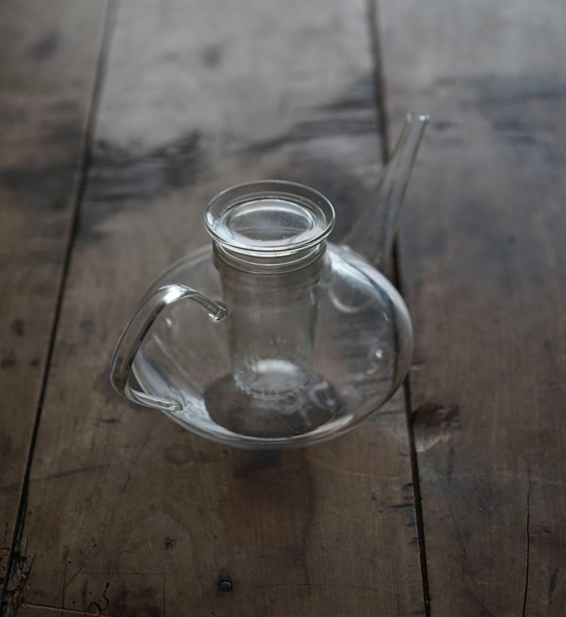 """イエナガラスのティーポット """"JENA GLAS"""" Tea Pot / 20th.C・Germany / アンティーク 古道具 硝子 ガラス バウハウス_画像6"""