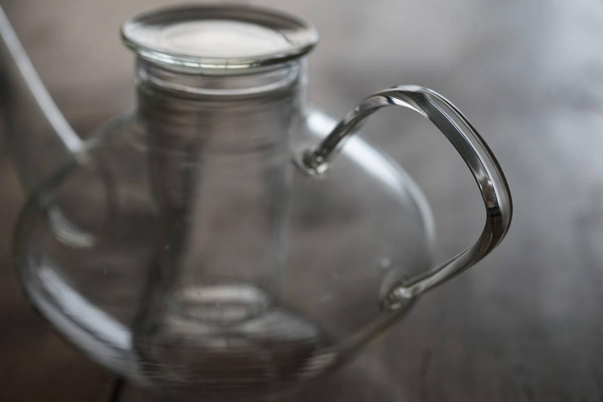 """イエナガラスのティーポット """"JENA GLAS"""" Tea Pot / 20th.C・Germany / アンティーク 古道具 硝子 ガラス バウハウス_画像4"""