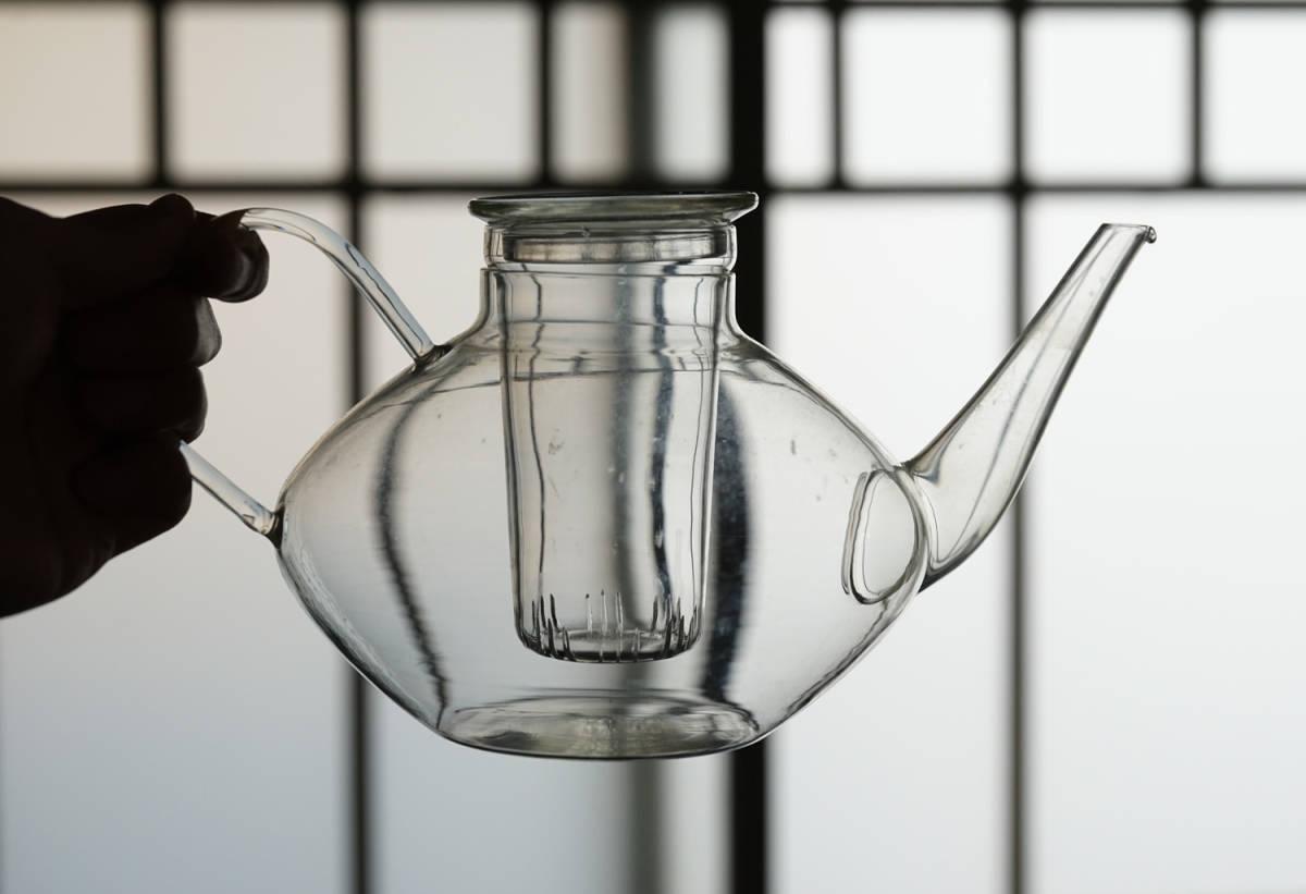 """イエナガラスのティーポット """"JENA GLAS"""" Tea Pot / 20th.C・Germany / アンティーク 古道具 硝子 ガラス バウハウス_画像5"""