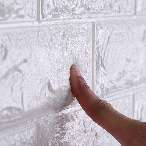 3D壁紙 DIYレンガ調壁紙シール ホワイト レンガ調 壁紙 ウォールステッカー レンガ 50枚セット_画像6