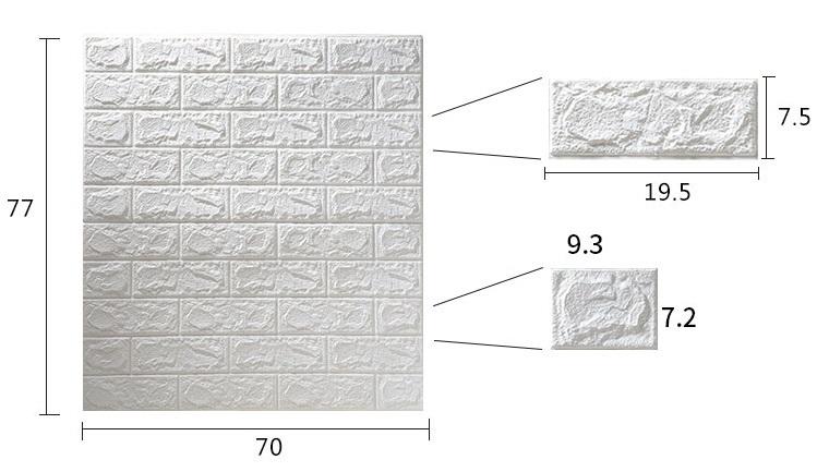 3D壁紙 DIYレンガ調壁紙シール ホワイト レンガ調 壁紙 ウォールステッカー レンガ 50枚セット_画像3