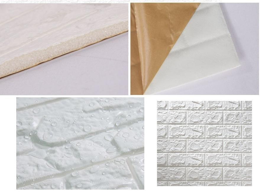 3D壁紙 DIYレンガ調壁紙シール ホワイト レンガ調 壁紙 ウォールステッカー レンガ 50枚セット_画像2