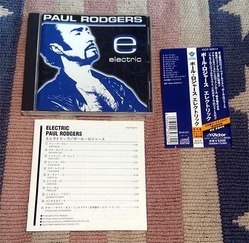 CD エレクトリック Paul Rodgers ポール・ロジャース ボーナストラック 正規国内盤 オビ・歌詞・対訳・解説付 ディスク良好 送料込_画像1