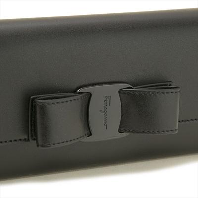 ■新品■Salvatore Ferragamo フェラガモ■VARAリボン長財布 22-D269 / ブラック■送料無料・即決_ブラックで統一したシックなVARAリボン