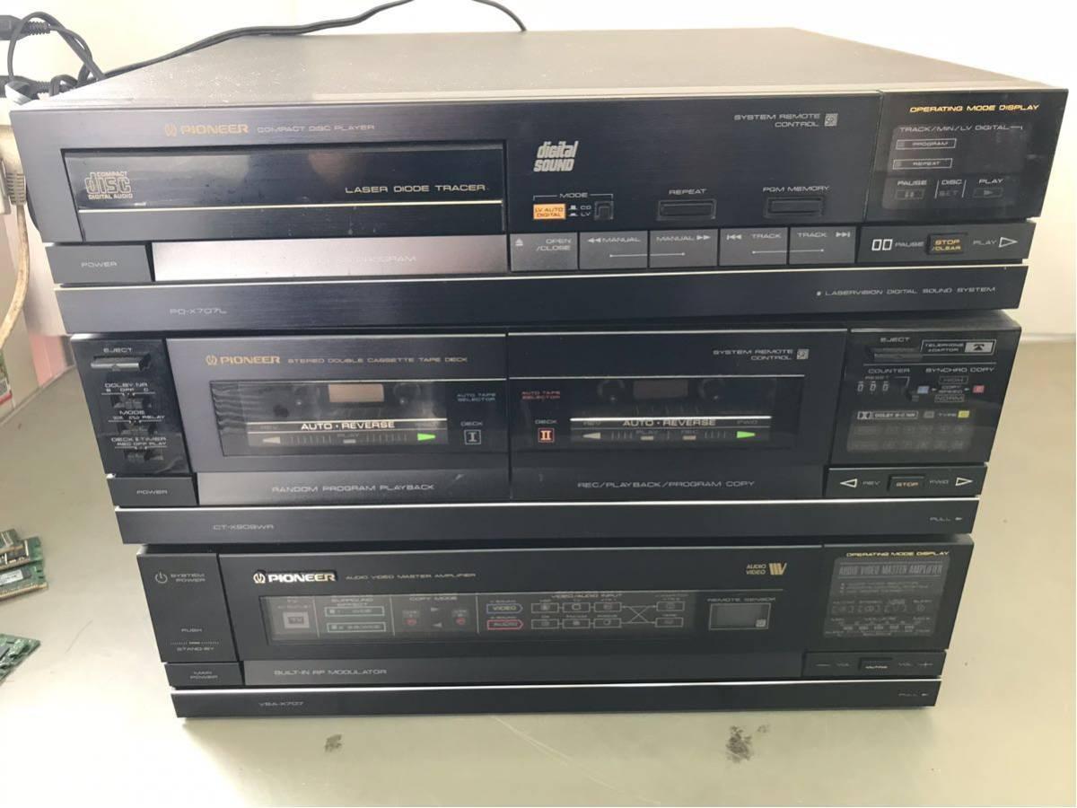 Pioneer パイオニア PD-X707L CT-X909WR VSA-X707 CU-VSA001 セット 通電のみ_画像5