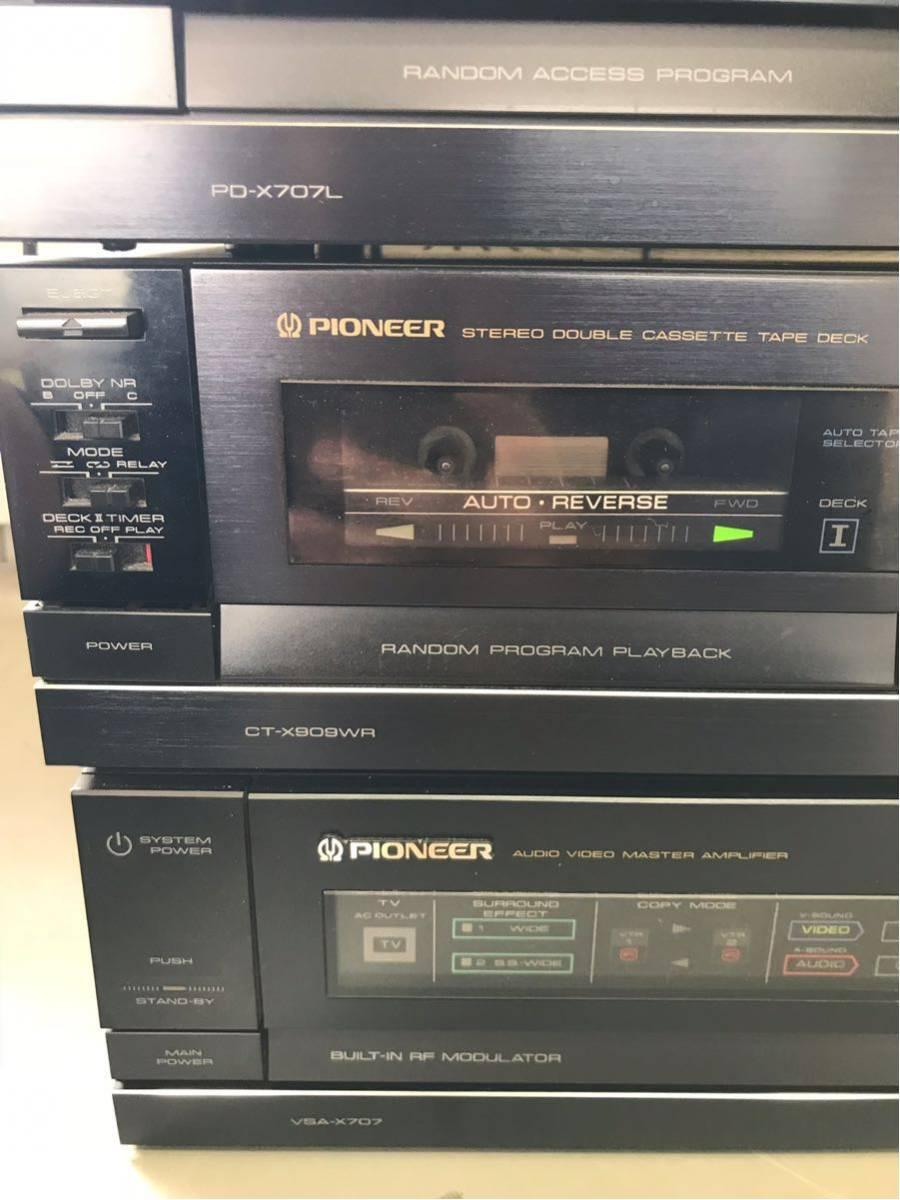 Pioneer パイオニア PD-X707L CT-X909WR VSA-X707 CU-VSA001 セット 通電のみ_画像6