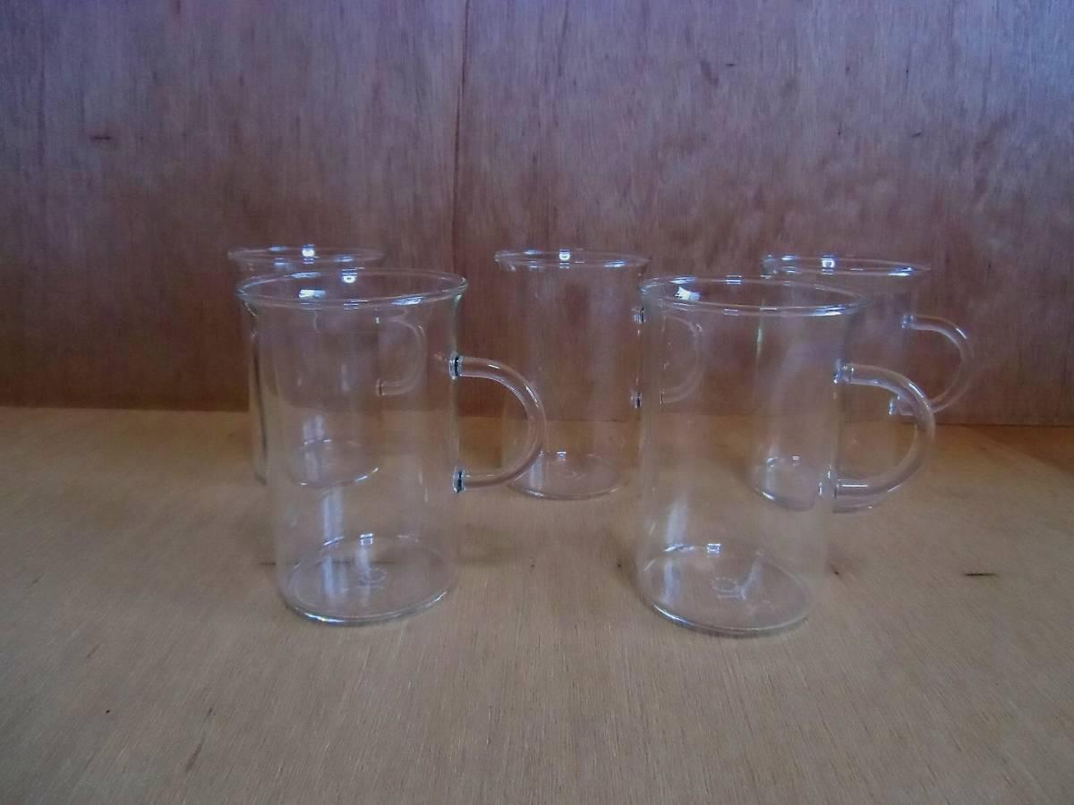 ドイツ JENAER GLAS イエナグラス カップ 5客セット BAUHAUS 耐熱ガラス バウハウス マグカップ ティーカップ コーヒーカップ 19521_画像9