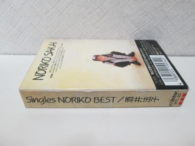 カセット 酒井法子 「Singles Noriko Best/シングルズ・ノリコ・ベスト」Noriko Sakai_画像4