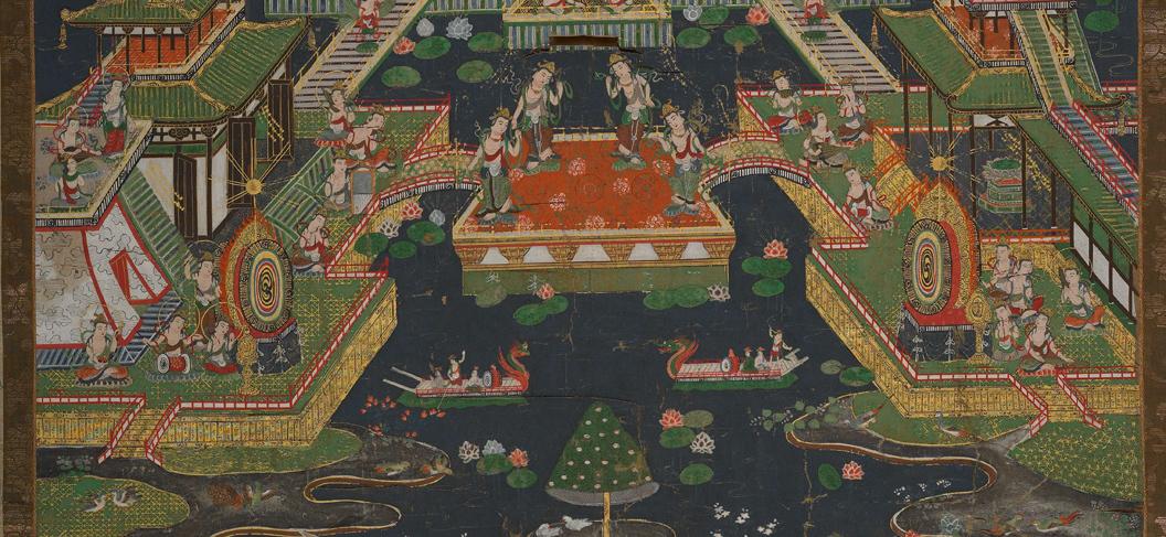 【大和軒】古美術品 /仏教美術 /仏画『智光曼荼羅』肉筆保証 /珍藏品 /本物 稀少!_画像5