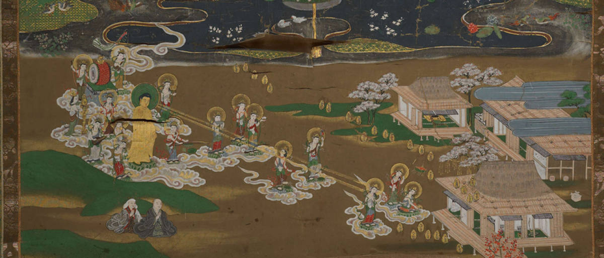 【大和軒】古美術品 /仏教美術 /仏画『智光曼荼羅』肉筆保証 /珍藏品 /本物 稀少!_画像3