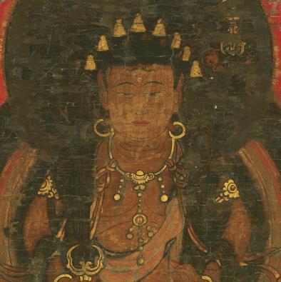 【大和軒】古美術品 /仏教美術 /仏画『八字曼荼羅』肉筆保証 /珍藏品 /本物 稀少!_画像4