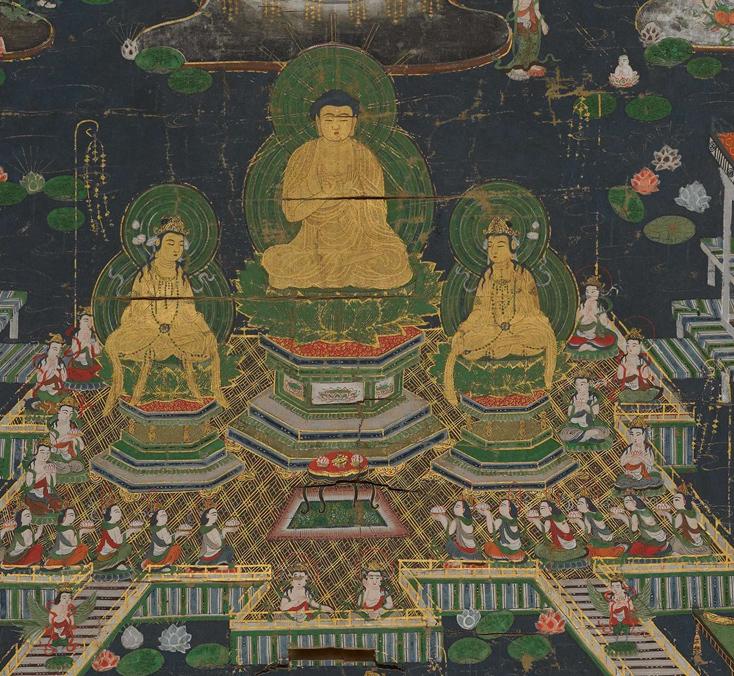 【大和軒】古美術品 /仏教美術 /仏画『智光曼荼羅』肉筆保証 /珍藏品 /本物 稀少!_画像2