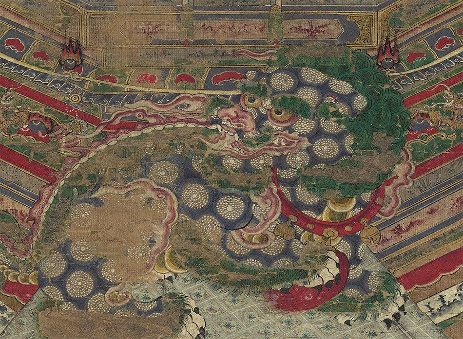 【大和軒】古美術品 /仏教美術 /仏画/鎌倉時代『地藏王菩薩』肉筆保証 /珍藏品 /本物 稀少!_画像4