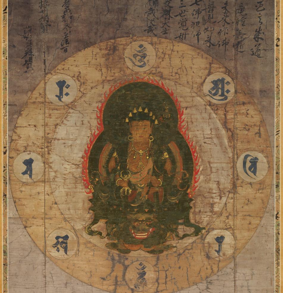 【大和軒】古美術品 /仏教美術 /仏画『八字曼荼羅』肉筆保証 /珍藏品 /本物 稀少!_画像2