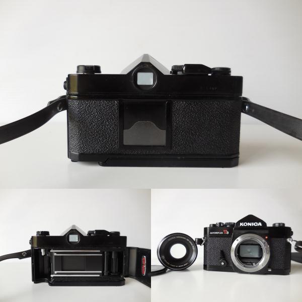 KONICA AUTOREFLEX T3(貴重黒ボディ)単焦点レンズ付き 中古動作品_画像8