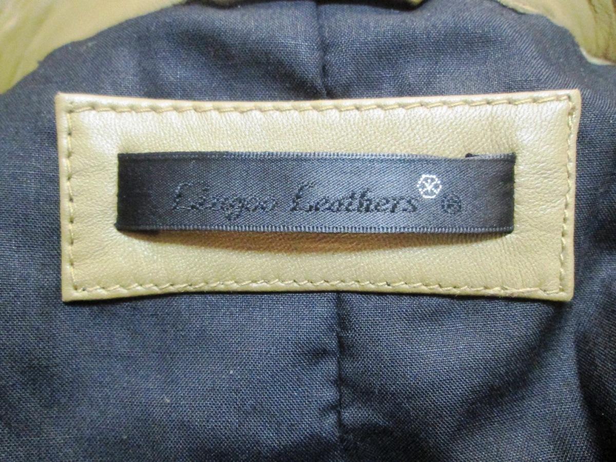 美色 Liugoo Leathers リューグーレザーズ シングルラムレザーライダースジャケット 羊革_画像7