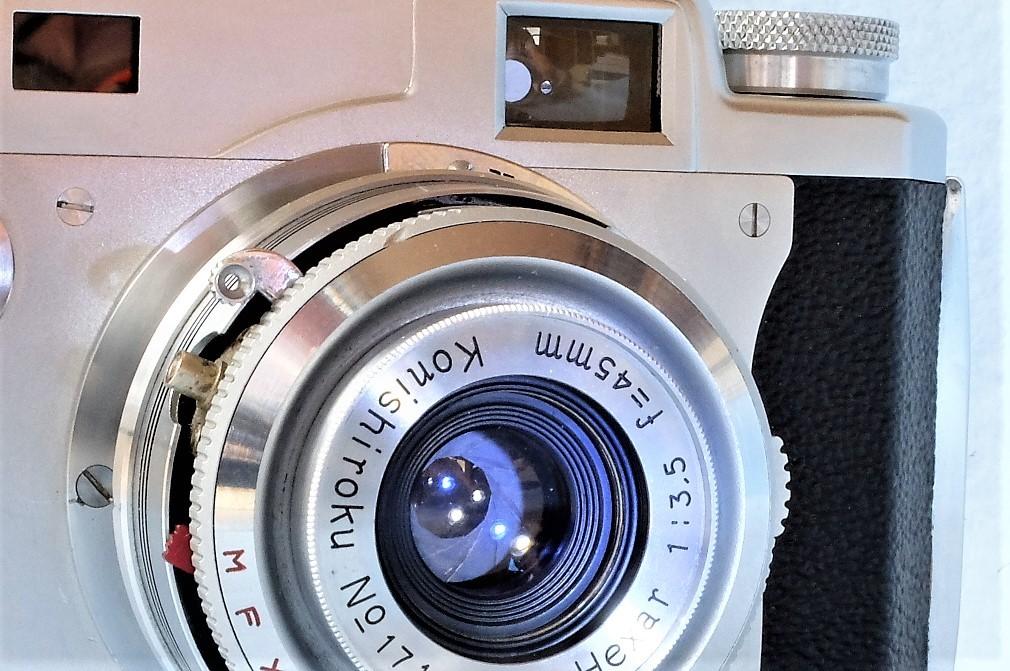 【 きれいなジャンク品です。 】 コニカ ⅡB-m Konishiroku Hexar 1:3.5 f=45mm_画像8
